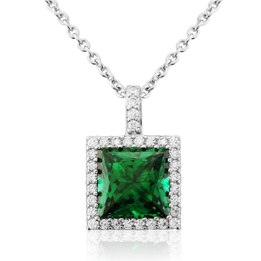 Emerald Centre Pendant With White Surround House Of